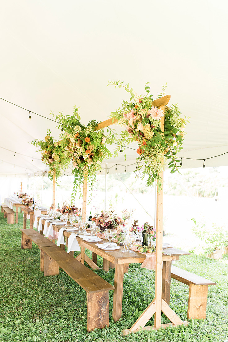 flower farm wedding with an overload of details ruffled