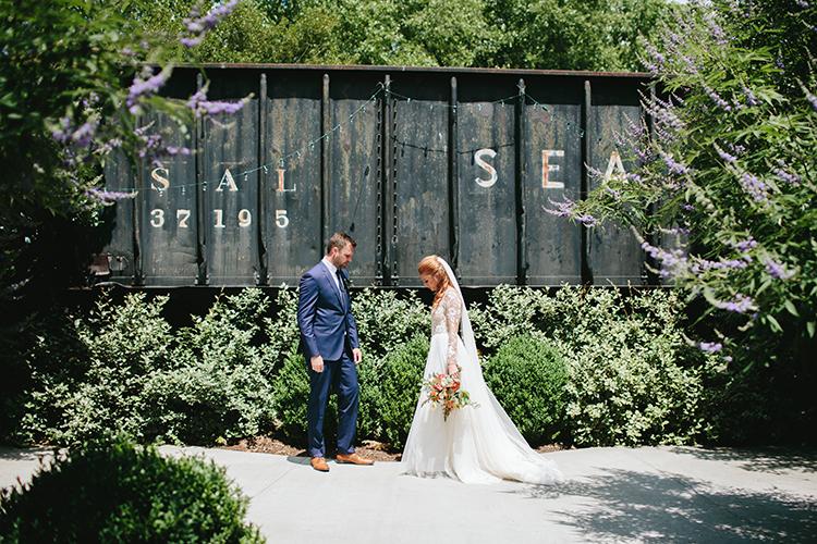 wedding portraits - https://ruffledblog.com/sweet-botanical-southern-wedding-with-metallic-accents