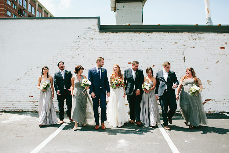 wedding portraits - http://ruffledblog.com/sweet-botanical-southern-wedding-with-metallic-accents