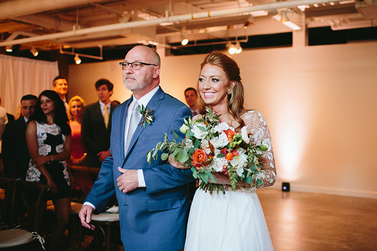bridal processionals - http://ruffledblog.com/sweet-botanical-southern-wedding-with-metallic-accents