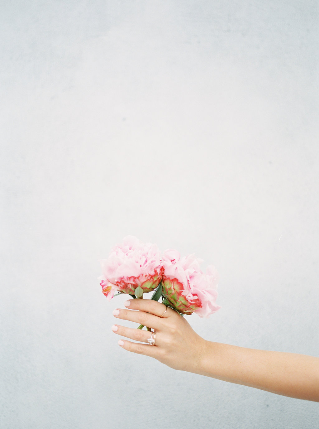 pink peonies - photo by Awake Photography https://ruffledblog.com/sweet-peony-bridal-inspiration