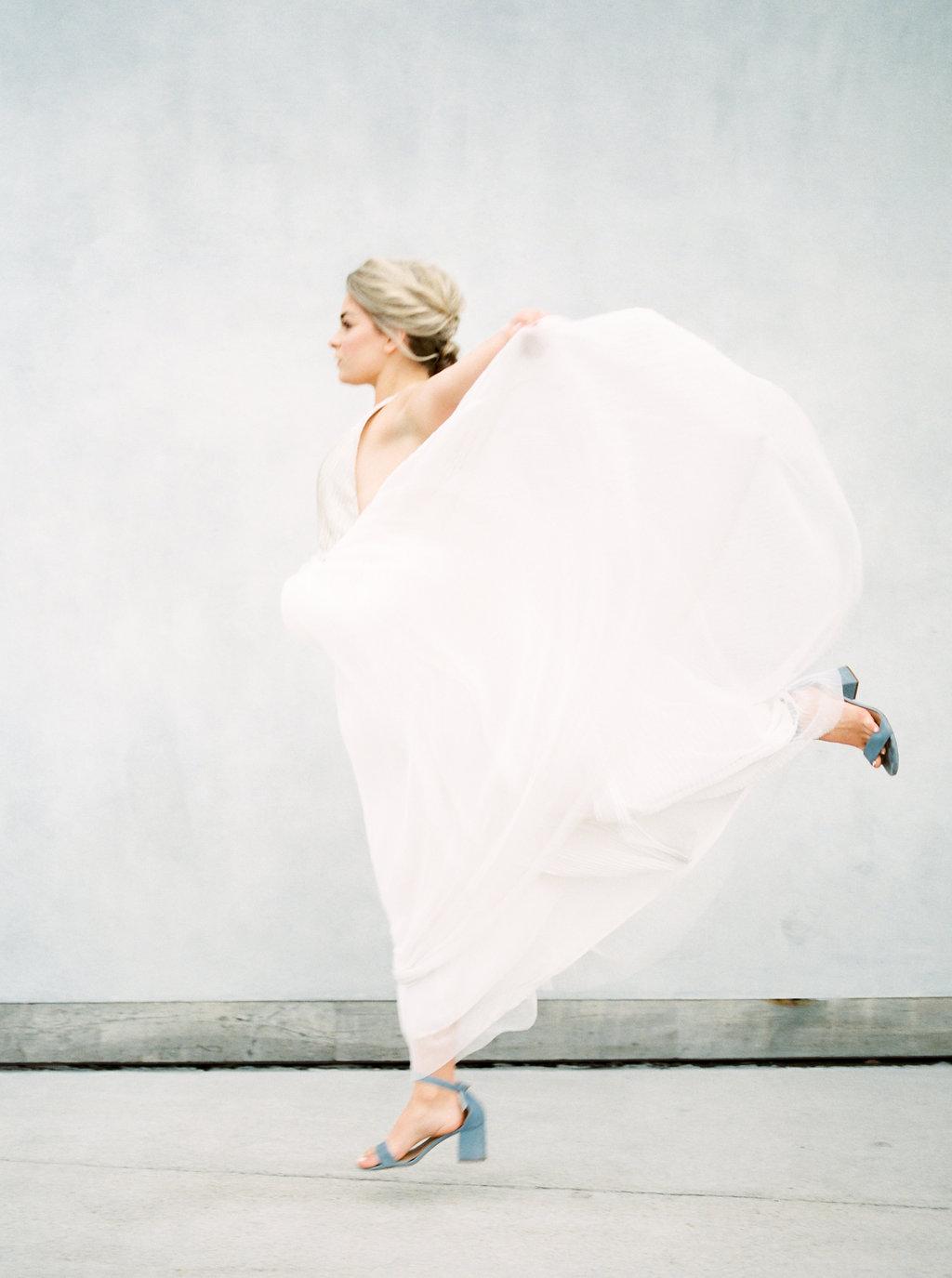 bridal portraits - photo by Awake Photography https://ruffledblog.com/sweet-peony-bridal-inspiration