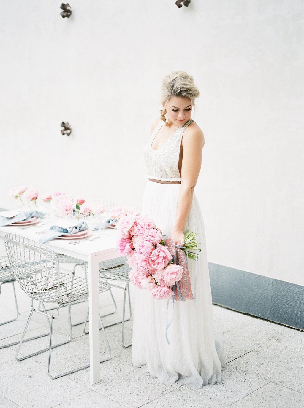 bridal wedding inspiration - photo by Awake Photography https://ruffledblog.com/sweet-peony-bridal-inspiration