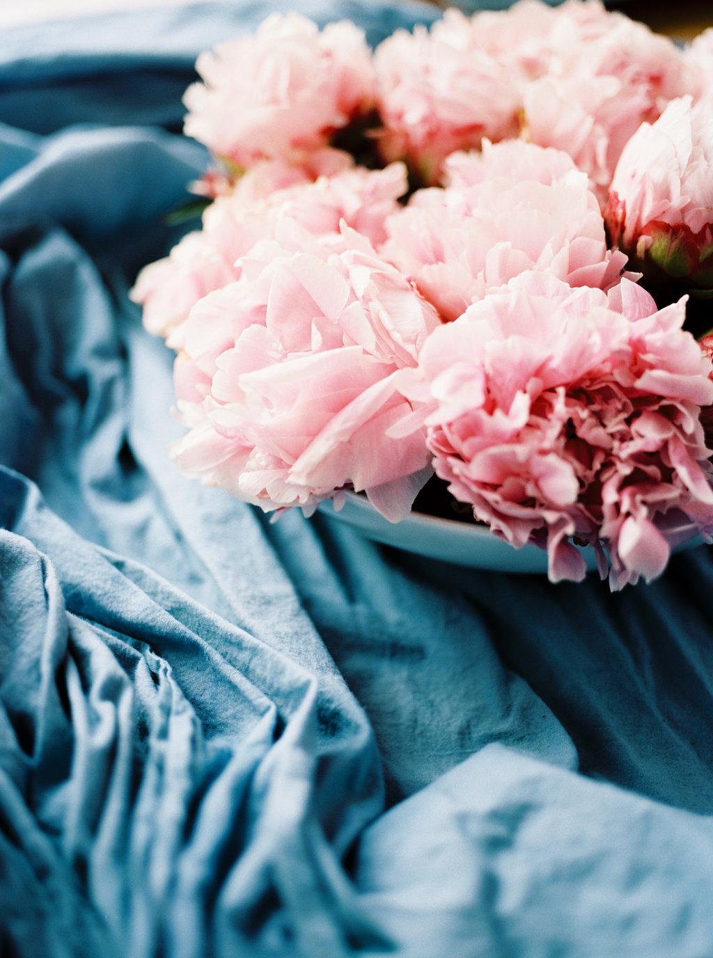 pink peonies - photo by Awake Photography http://ruffledblog.com/sweet-peony-bridal-inspiration
