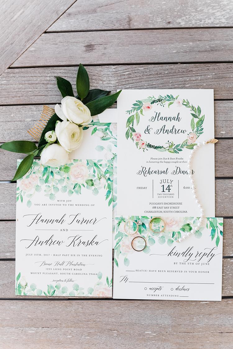 garden wedding invitations - https://ruffledblog.com/swoon-worthy-charleston-wedding-with-spanish-moss