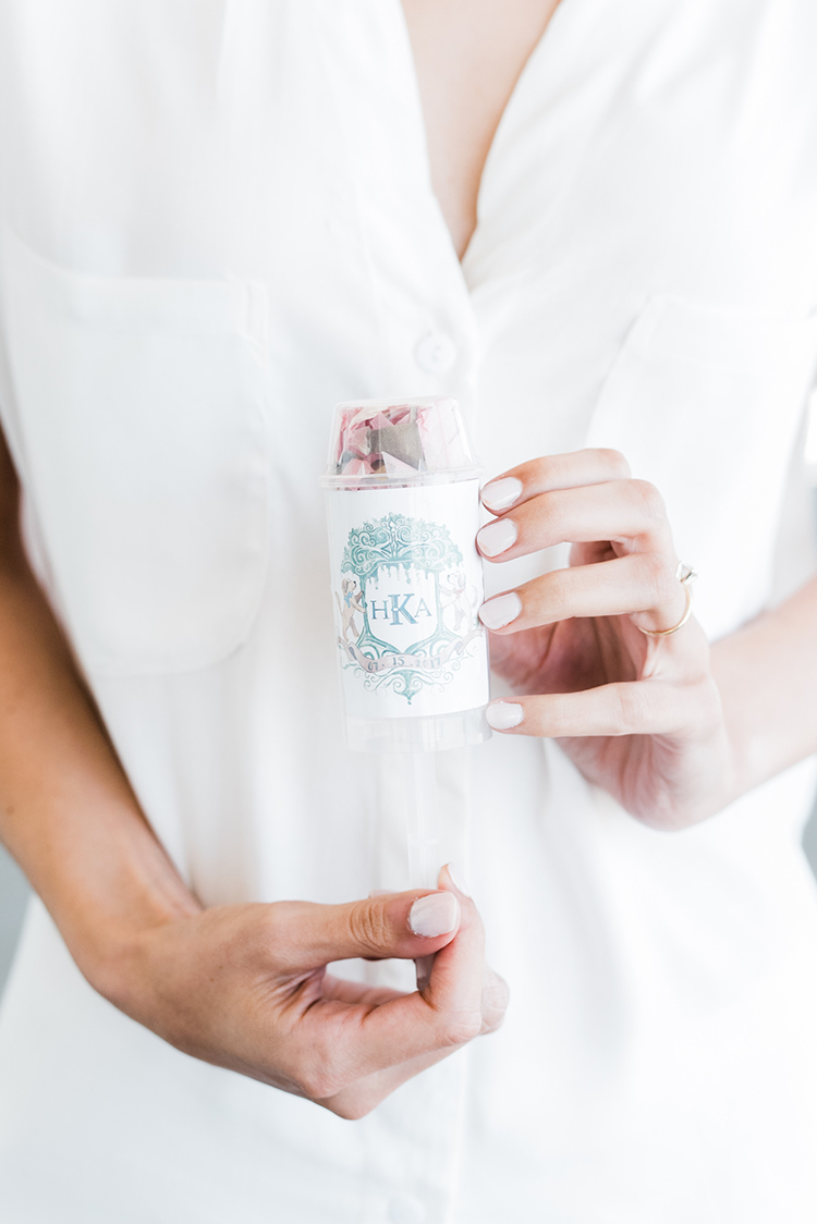 confetti bombs - https://ruffledblog.com/swoon-worthy-charleston-wedding-with-spanish-moss