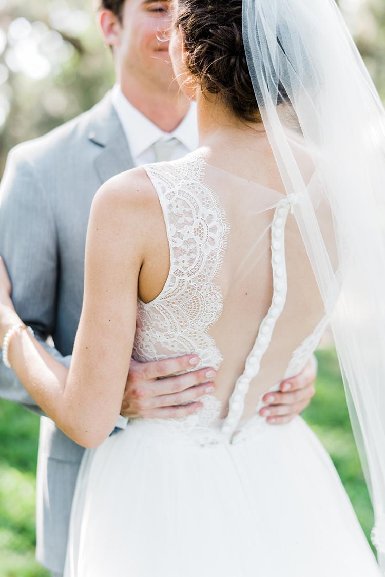romantic Amsale wedding gowns - https://ruffledblog.com/swoon-worthy-charleston-wedding-with-spanish-moss