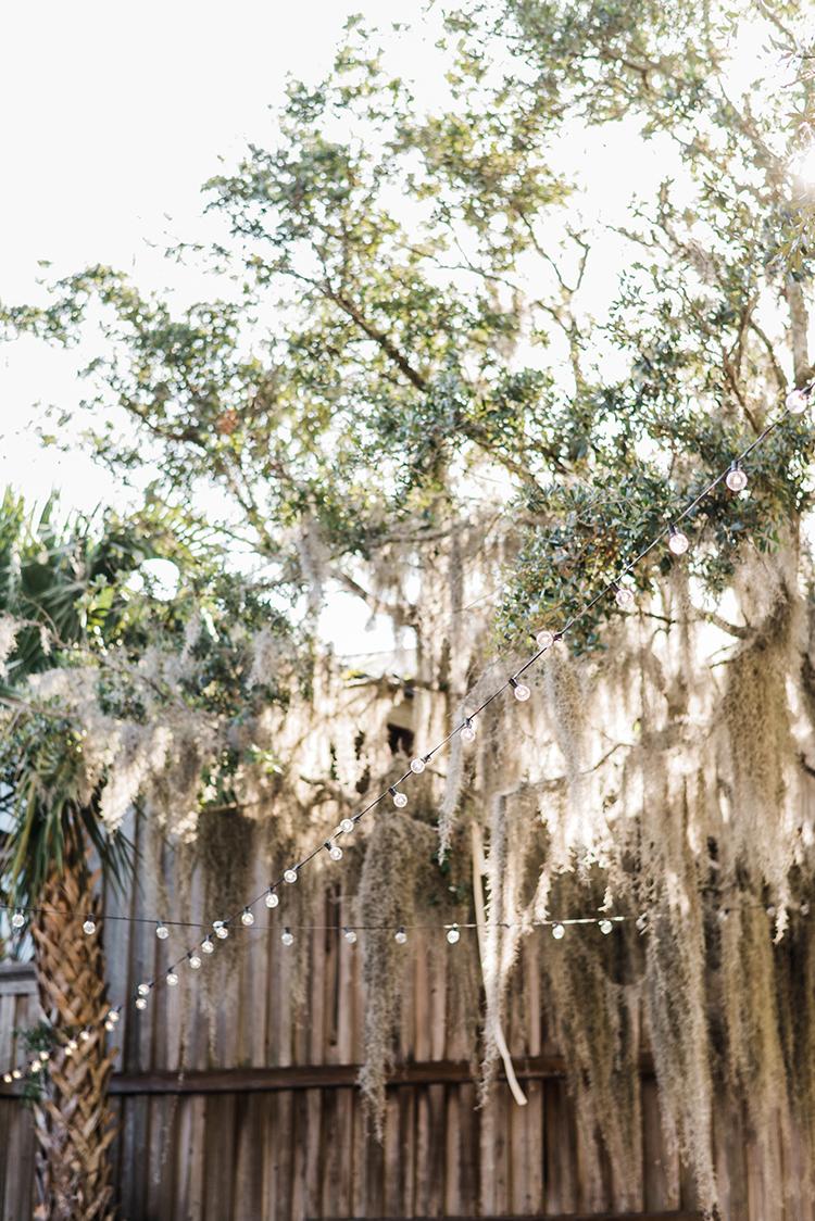 Spanish moss at weddings - https://ruffledblog.com/swoon-worthy-charleston-wedding-with-spanish-moss