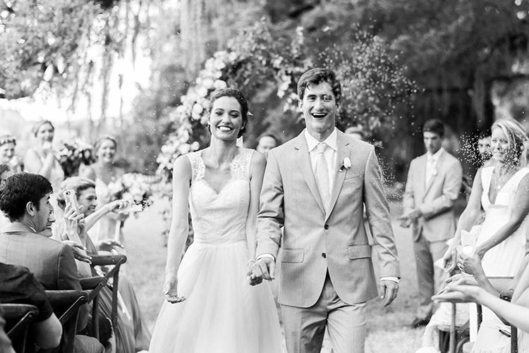 ceremony recessionals - https://ruffledblog.com/swoon-worthy-charleston-wedding-with-spanish-moss