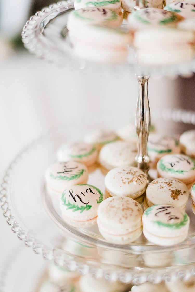 romantic macarons for weddings - https://ruffledblog.com/swoon-worthy-charleston-wedding-with-spanish-moss
