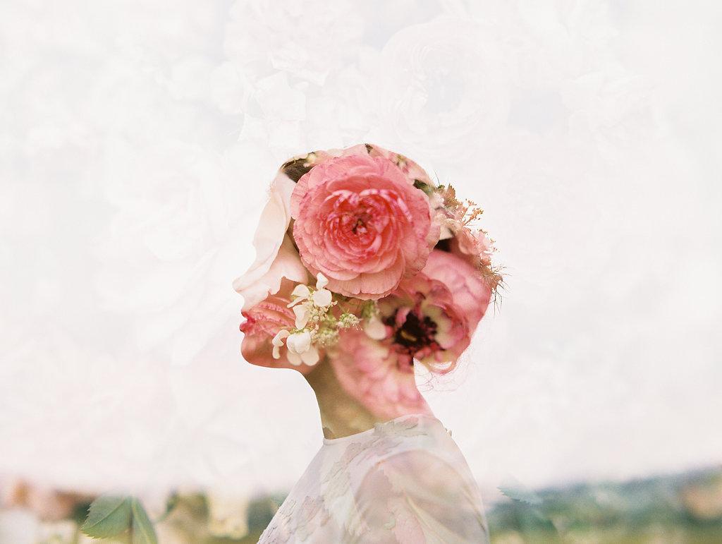double exposure wedding photography - photo by As Ever Photography https://ruffledblog.com/the-secret-garden-inspired-wedding-in-ireland