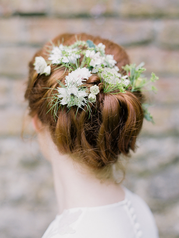 romantic wedding hair - photo by As Ever Photography http://ruffledblog.com/the-secret-garden-inspired-wedding-in-ireland