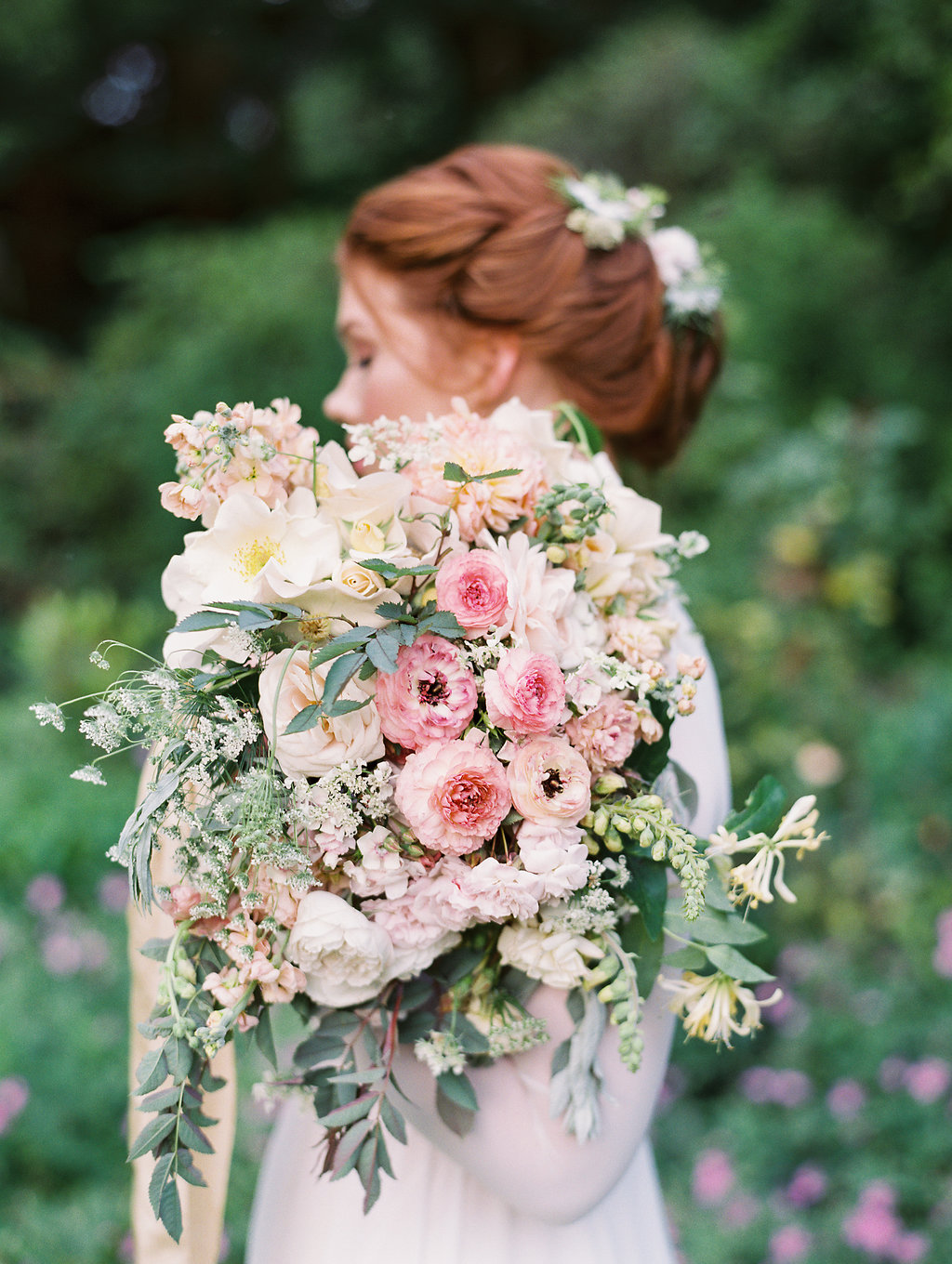 wedding bouquets with loose flowers - photo by As Ever Photography http://ruffledblog.com/the-secret-garden-inspired-wedding-in-ireland