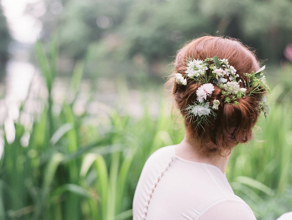 romantic garden bridal wedding hair - photo by As Ever Photography https://ruffledblog.com/the-secret-garden-inspired-wedding-in-ireland