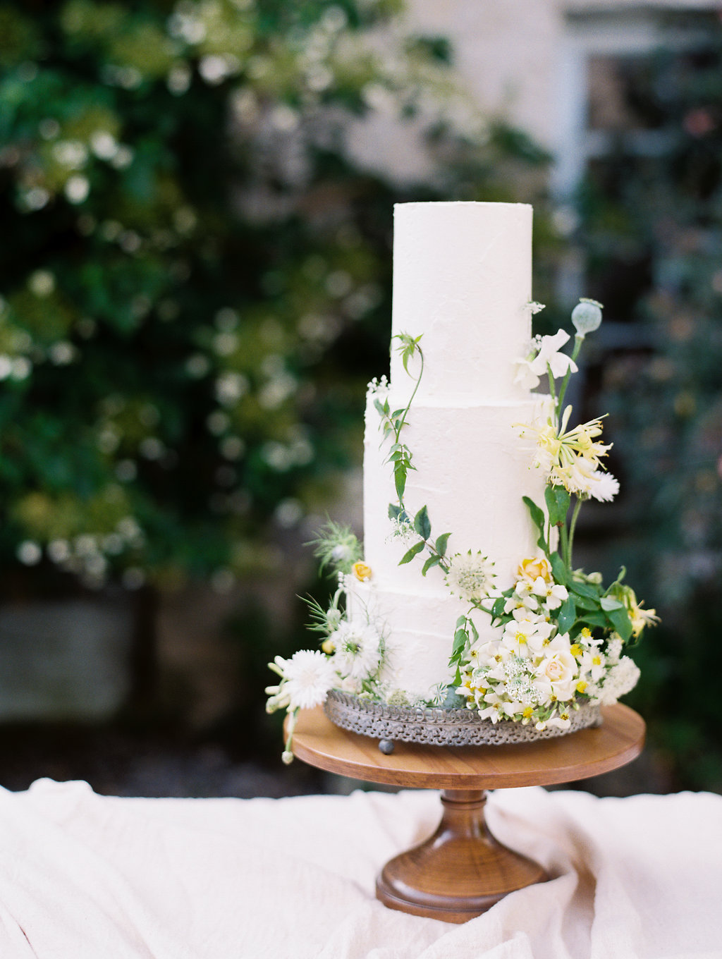 wedding cakes with organic details - photo by As Ever Photography http://ruffledblog.com/the-secret-garden-inspired-wedding-in-ireland