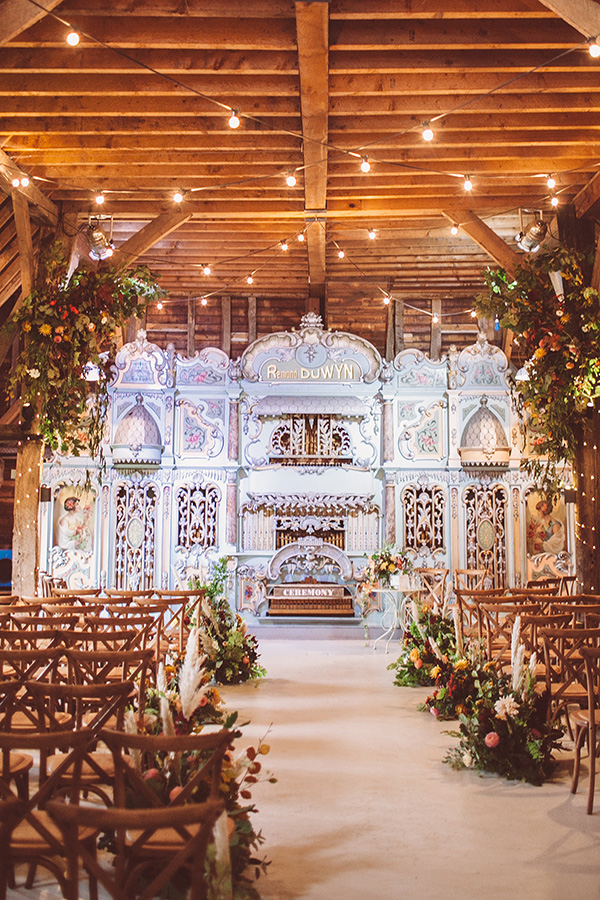 This Couple Turned Their Wedding Into a Fairground #funweddingideas #ceremonybackrops #whimsicalbride