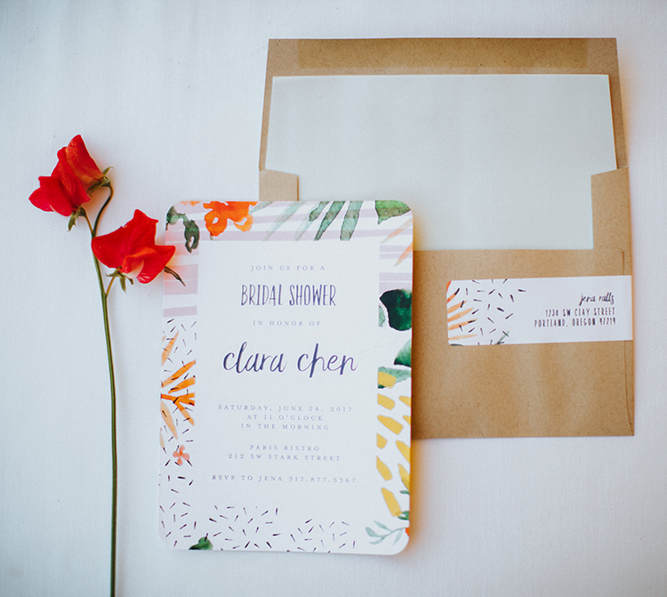 whimsical bridal shower invitations - photo by Shutterfreek http://ruffledblog.com/throw-a-tropical-bridal-shower-with-these-free-printable-invites