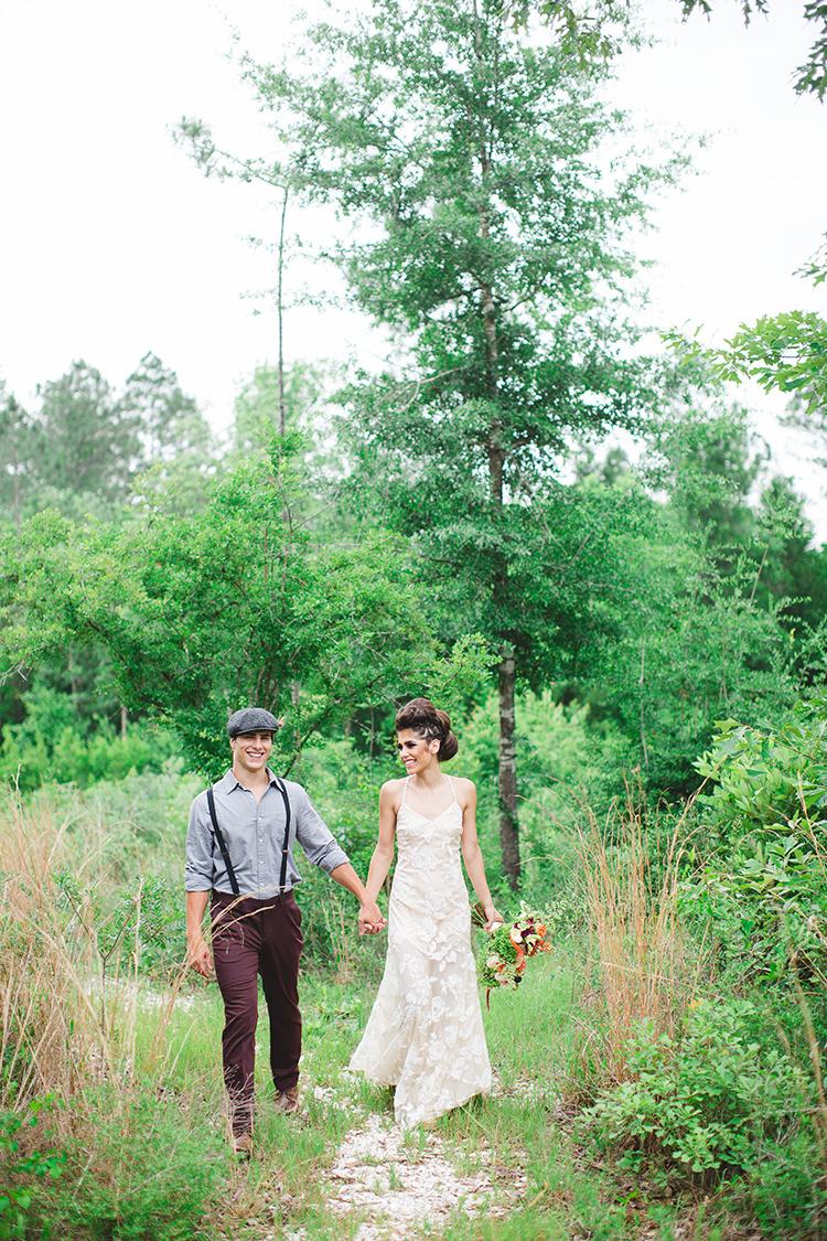 bohemian wedding style - https://ruffledblog.com/tropical-glamping-wedding-inspiration-with-moody-hues