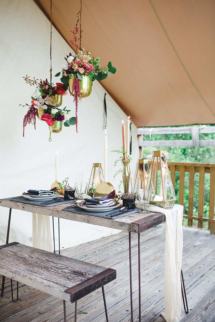 tropical glamping wedding inspiration - https://ruffledblog.com/tropical-glamping-wedding-inspiration-with-moody-hues