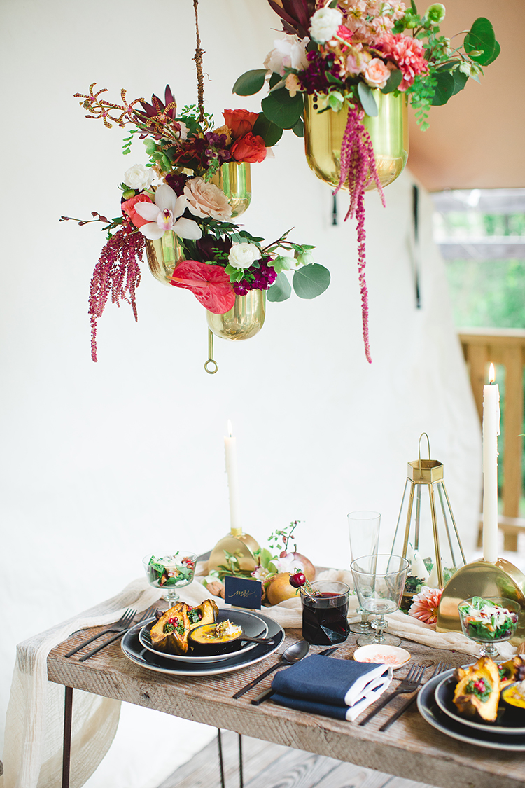 tropical glamping wedding ideas - http://ruffledblog.com/tropical-glamping-wedding-inspiration-with-moody-hues