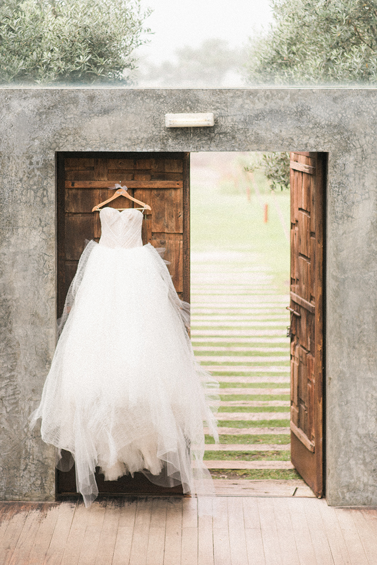 tulle wedding dresses - photo by Adriana Morais https://ruffledblog.com/two-day-destination-wedding-celebration-in-portugal