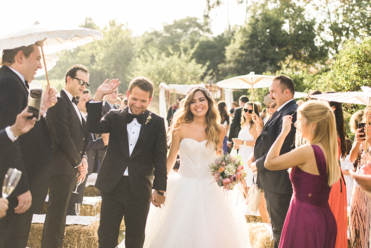 ceremony recessionals - photo by Adriana Morais https://ruffledblog.com/two-day-destination-wedding-celebration-in-portugal