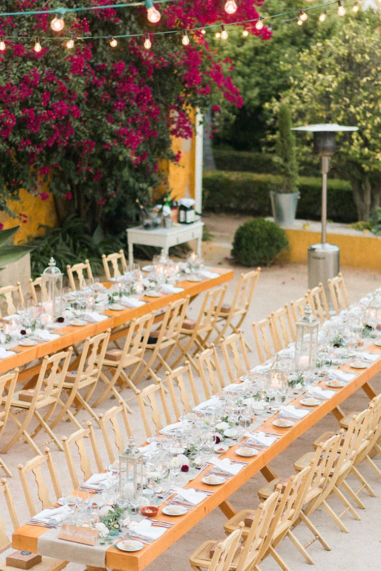 reception tables - photo by Adriana Morais https://ruffledblog.com/two-day-destination-wedding-celebration-in-portugal