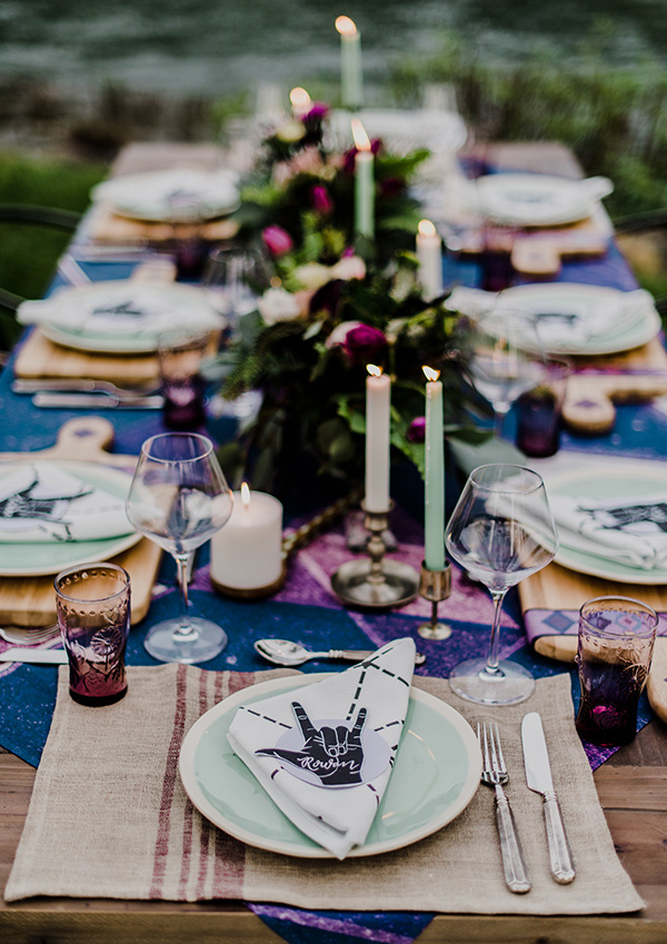 Ultra Violet Rock N' Roll Wedding Inspiration  #pantone2018 #edgyweddings #bohobridalfashion