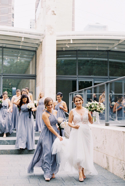bridesmaid entourage with bride