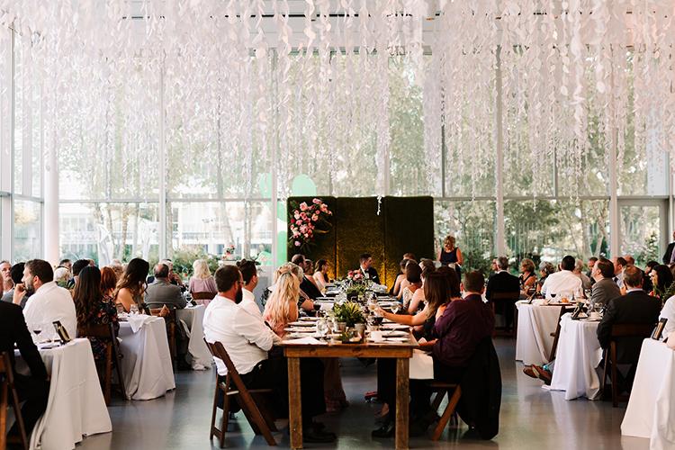 romantic wedding reception ideas - https://ruffledblog.com/urban-chic-art-gallery-wedding-in-ontario