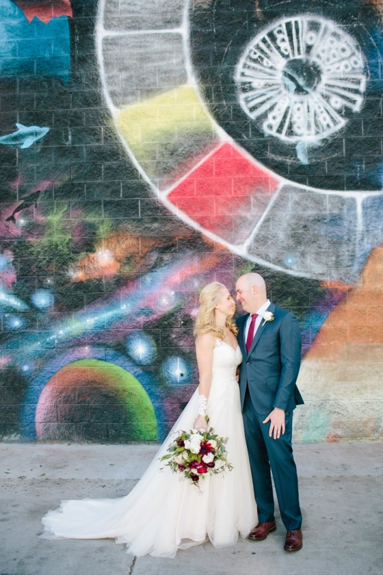 Urban, Nature-Inspired Wedding in a Colorful Arts District