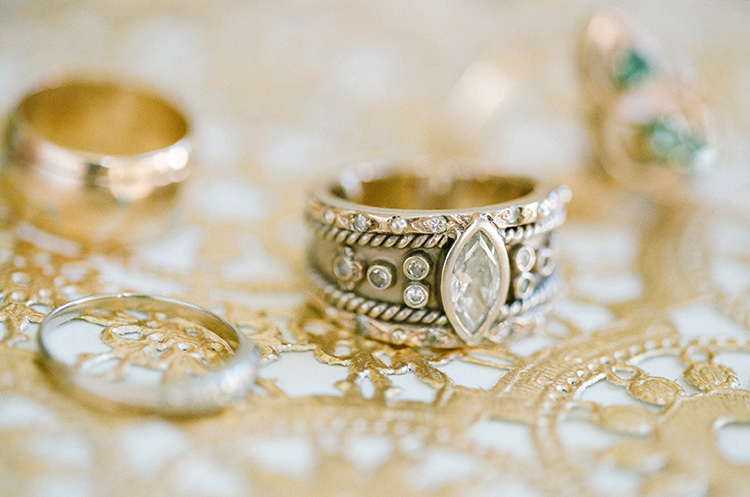 vintage marquis cut engagement rings - photo by Lacie Hansen http://ruffledblog.com/utterly-beautiful-california-wedding-planned-by-the-bride