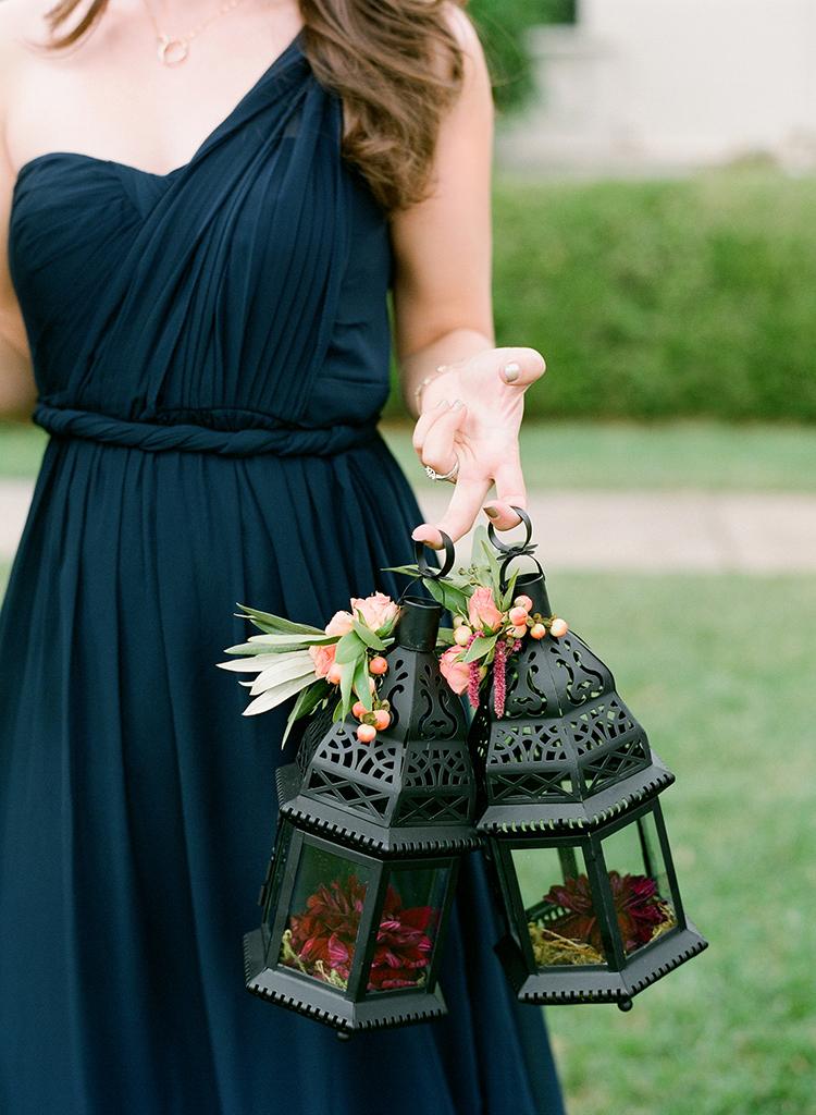 bridesmaid lanterns - photo by Lacie Hansen http://ruffledblog.com/utterly-beautiful-california-wedding-planned-by-the-bride