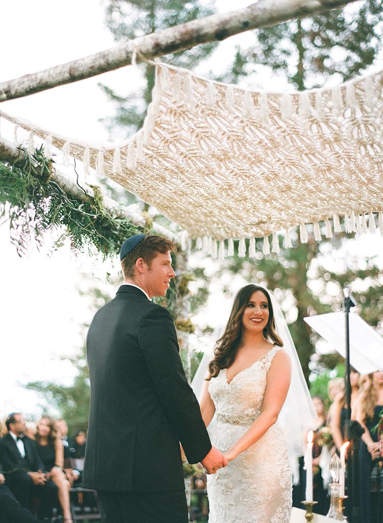 Jewish chuppahs - photo by Lacie Hansen http://ruffledblog.com/utterly-beautiful-california-wedding-planned-by-the-bride