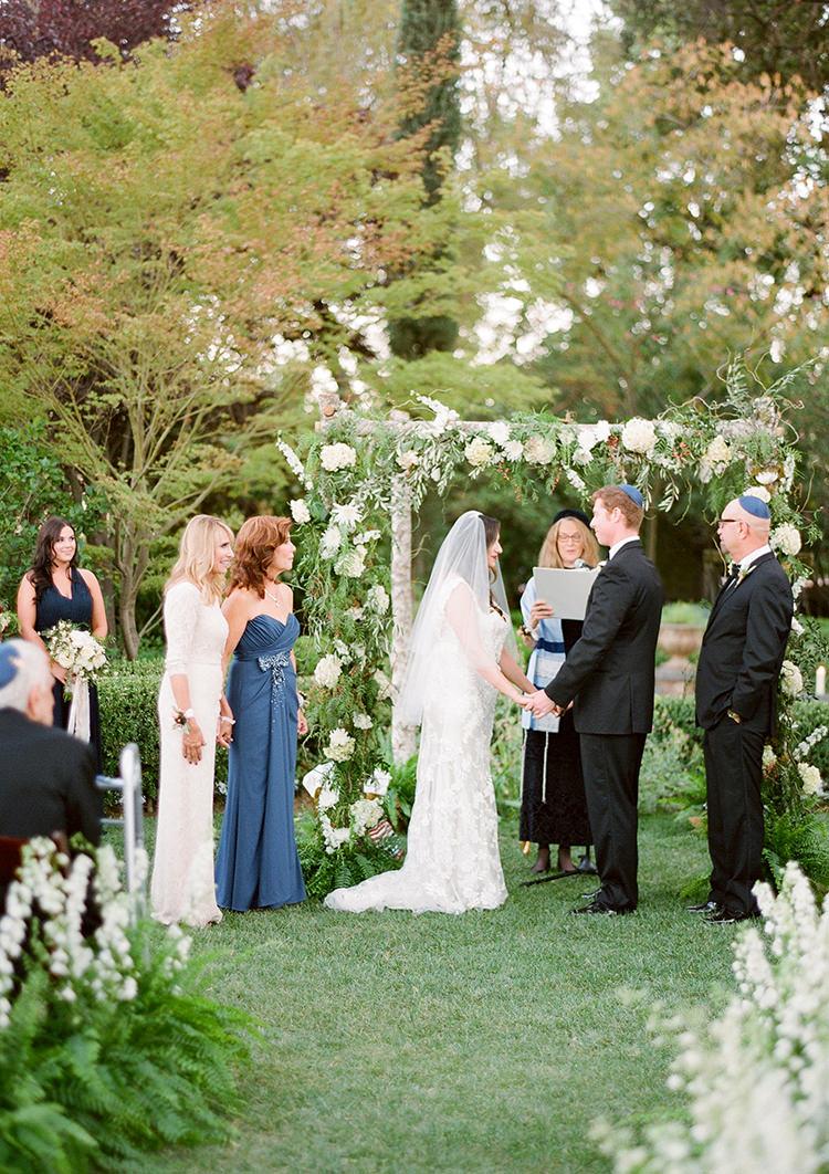 garden wedding ceremonies - photo by Lacie Hansen http://ruffledblog.com/utterly-beautiful-california-wedding-planned-by-the-bride