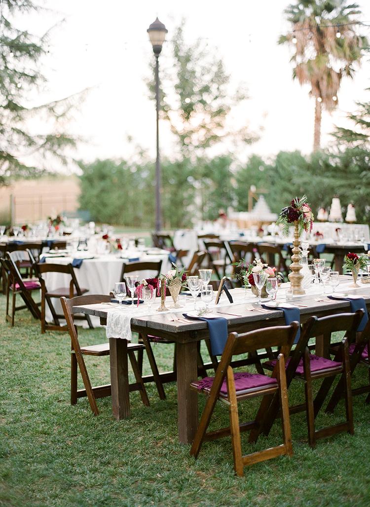 backyard wedding receptions - photo by Lacie Hansen http://ruffledblog.com/utterly-beautiful-california-wedding-planned-by-the-bride