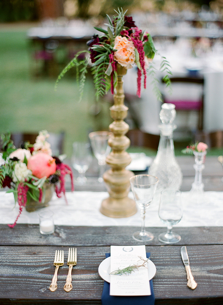 romantic tablescapes - photo by Lacie Hansen http://ruffledblog.com/utterly-beautiful-california-wedding-planned-by-the-bride