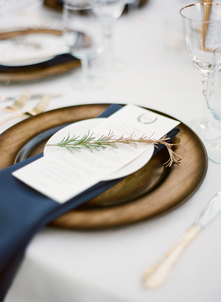 place settings - photo by Lacie Hansen http://ruffledblog.com/utterly-beautiful-california-wedding-planned-by-the-bride