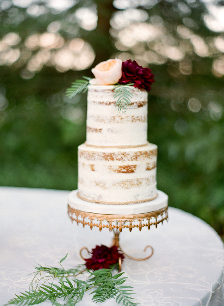 wedding cakes with peonies - photo by Lacie Hansen http://ruffledblog.com/utterly-beautiful-california-wedding-planned-by-the-bride