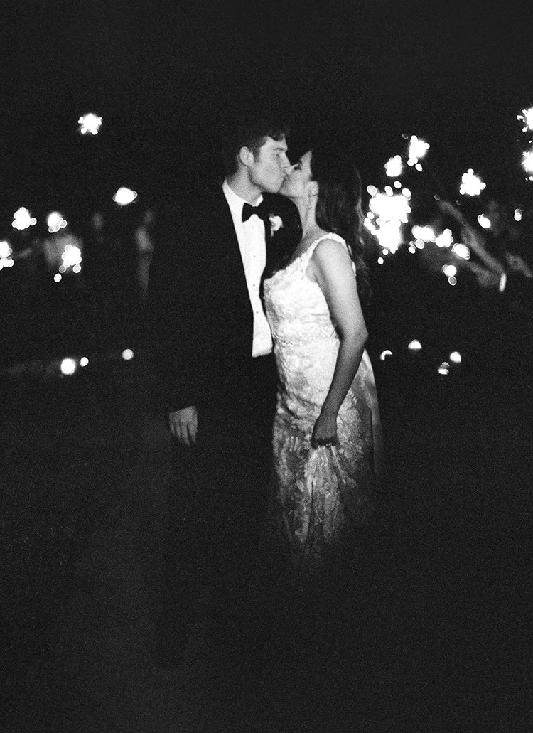 romantic weddings with sparklers - photo by Lacie Hansen https://ruffledblog.com/utterly-beautiful-california-wedding-planned-by-the-bride