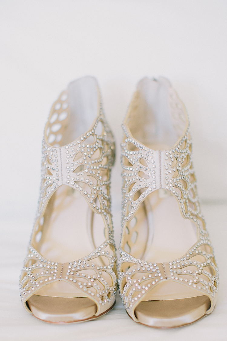 metallic wedding shoes - photo by Fondly Forever Photography http://ruffledblog.com/utterly-dreamy-destination-wedding-in-santa-ynez-valley