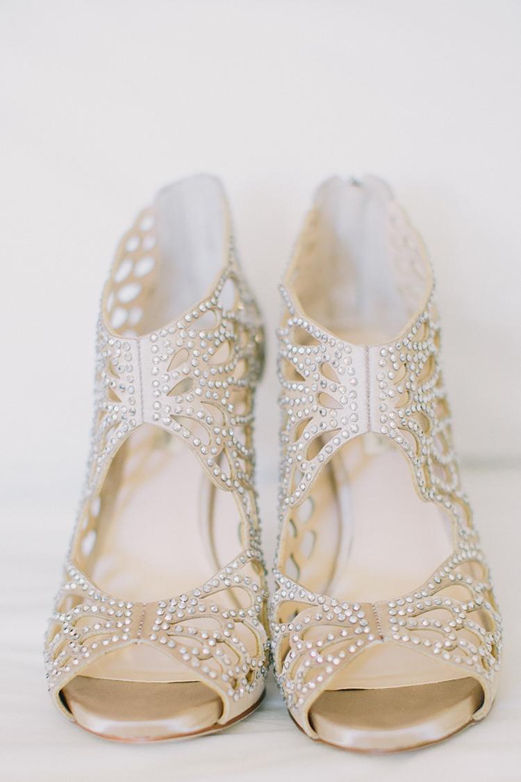 metallic wedding shoes - photo by Fondly Forever Photography https://ruffledblog.com/utterly-dreamy-destination-wedding-in-santa-ynez-valley