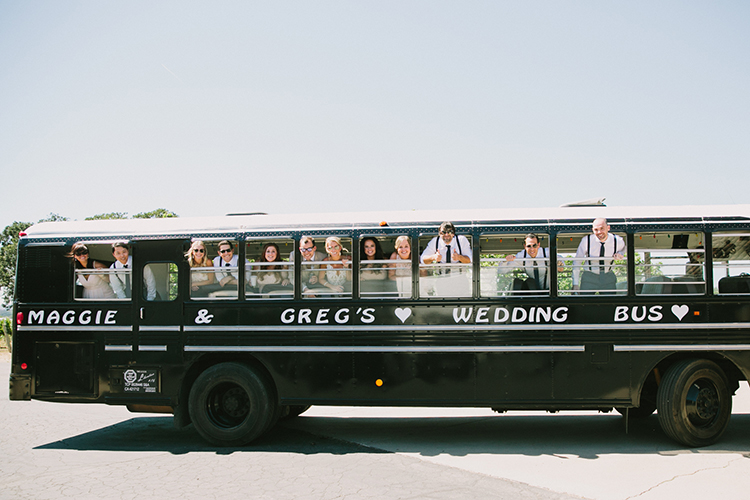 wedding buses - photo by Fondly Forever Photography http://ruffledblog.com/utterly-dreamy-destination-wedding-in-santa-ynez-valley