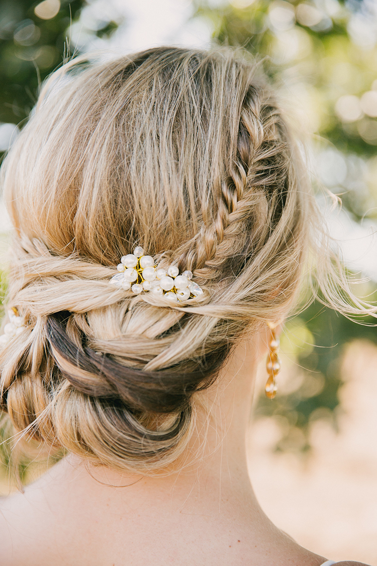 braided wedding hair - photo by Fondly Forever Photography https://ruffledblog.com/utterly-dreamy-destination-wedding-in-santa-ynez-valley