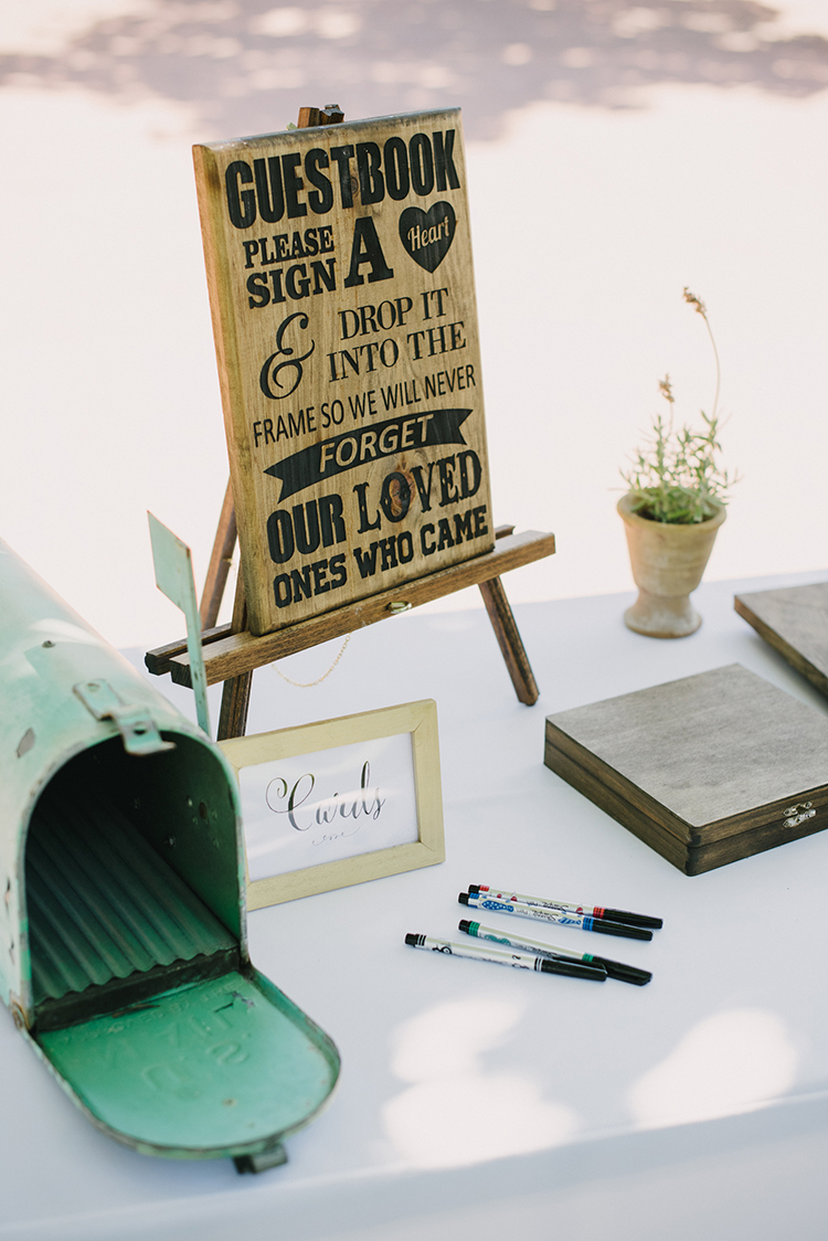 wedding guest book ideas - photo by Fondly Forever Photography https://ruffledblog.com/utterly-dreamy-destination-wedding-in-santa-ynez-valley