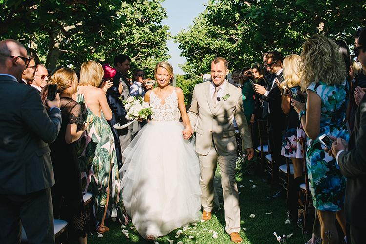 ceremony recessionals - photo by Fondly Forever Photography https://ruffledblog.com/utterly-dreamy-destination-wedding-in-santa-ynez-valley