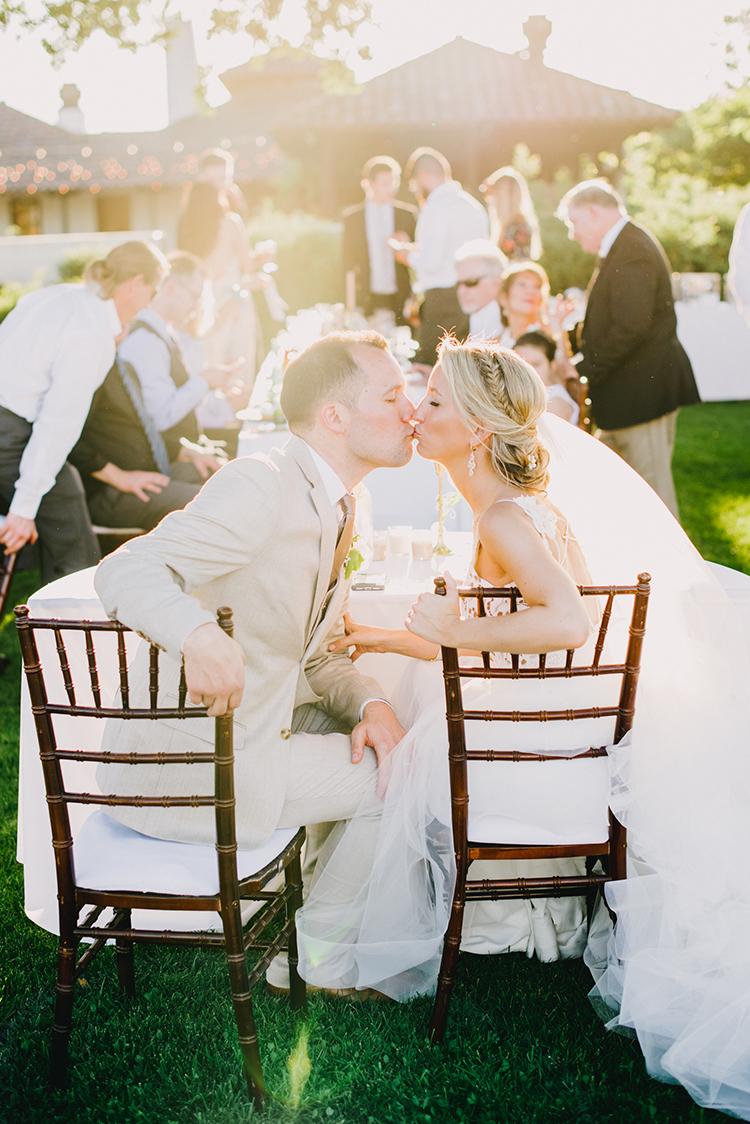 wedding kisses - photo by Fondly Forever Photography https://ruffledblog.com/utterly-dreamy-destination-wedding-in-santa-ynez-valley