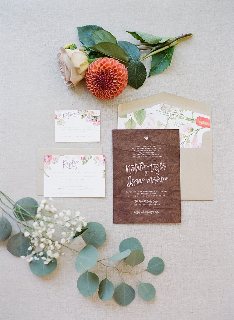 rustic inspired wedding invitations - photo by Erica Schneider Photography http://ruffledblog.com/vegetable-garden-inspired-wedding-with-seriously-lush-details