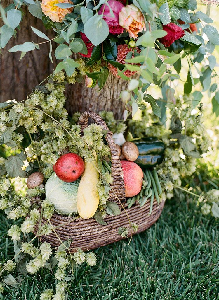vegetable wedding details - photo by Erica Schneider Photography http://ruffledblog.com/vegetable-garden-inspired-wedding-with-seriously-lush-details