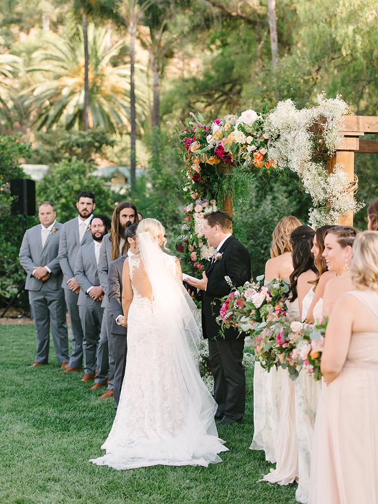 garden wedding ceremonies - photo by Erica Schneider Photography http://ruffledblog.com/vegetable-garden-inspired-wedding-with-seriously-lush-details